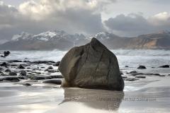 Stenblock på stranden