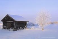 Lada i vinterlandskap