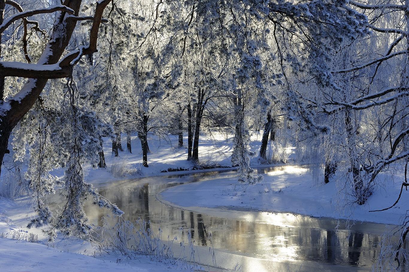 D11152-12 Vingåkersån i rimfrost